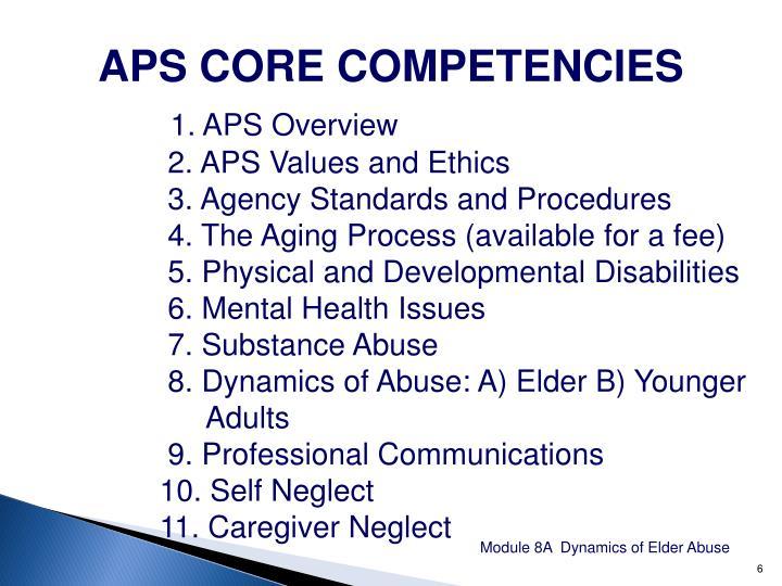 APS CORE COMPETENCIES