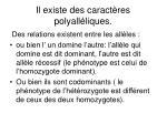 il existe des caract res polyall liques