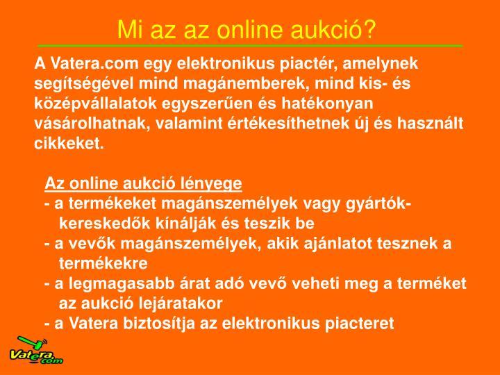 Mi az az online aukció?