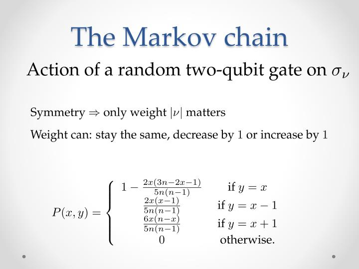 The Markov chain