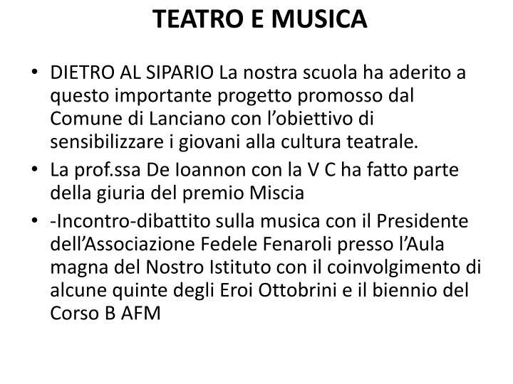 TEATRO E MUSICA