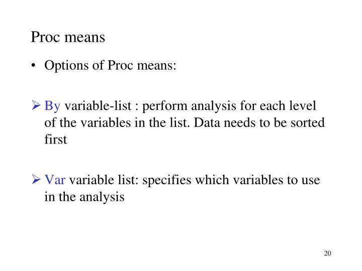 Proc means