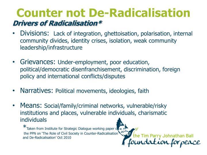 Counter not De-Radicalisation