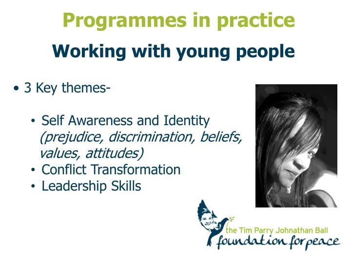 Programmes in practice
