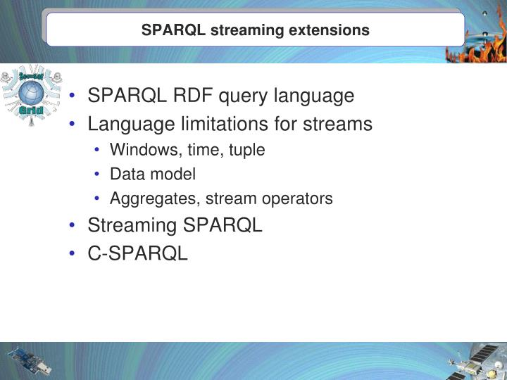 SPARQL streaming extensions