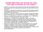 snyder brothers inc major oil spill sub area planning in the forest3