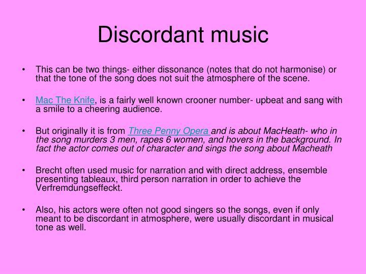 Discordant music