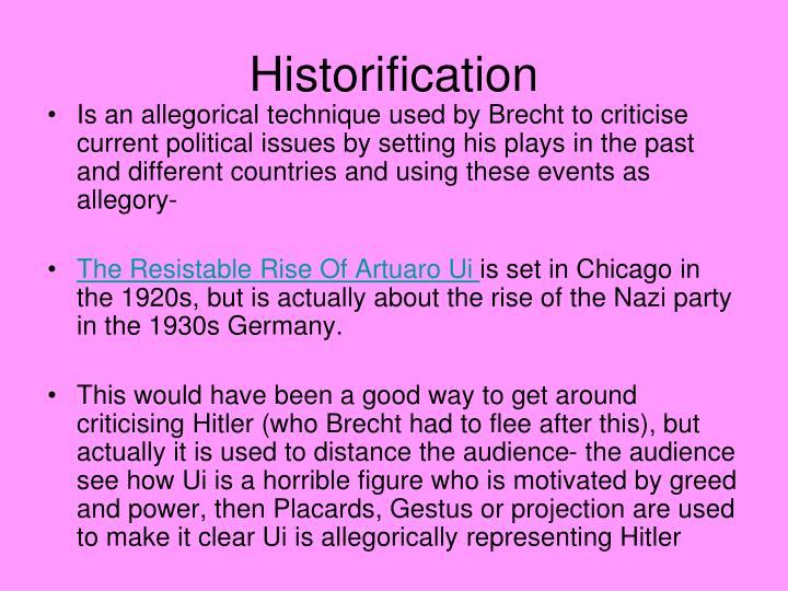 Historification