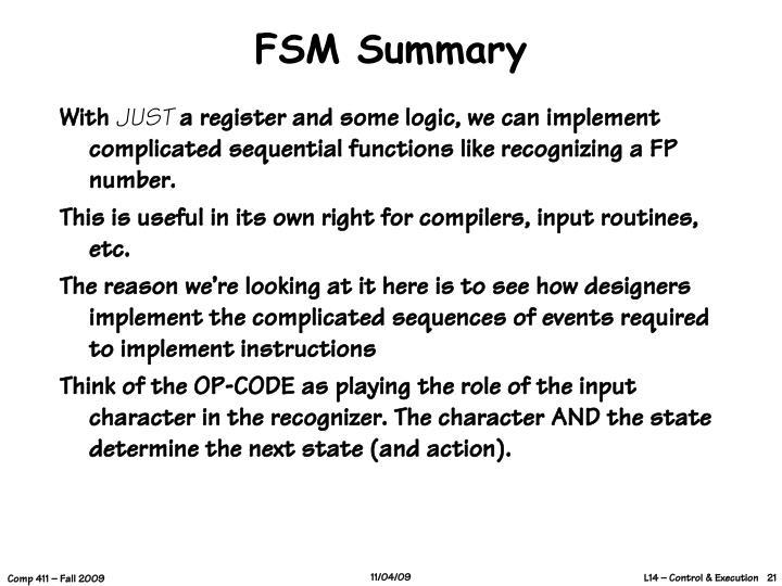 FSM Summary