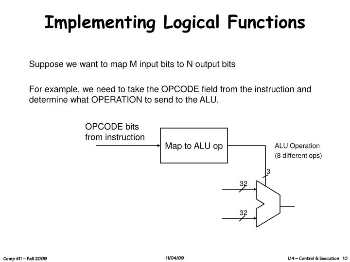 Implementing Logical Functions