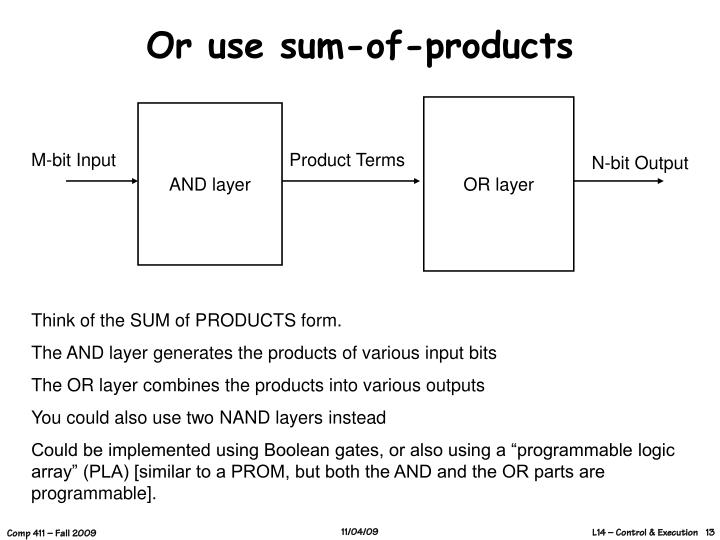 Or use sum-of-products