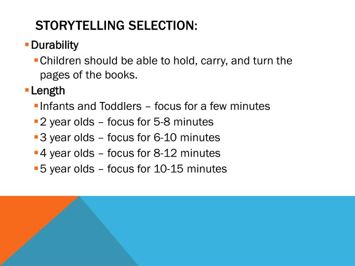 Storytelling Selection: