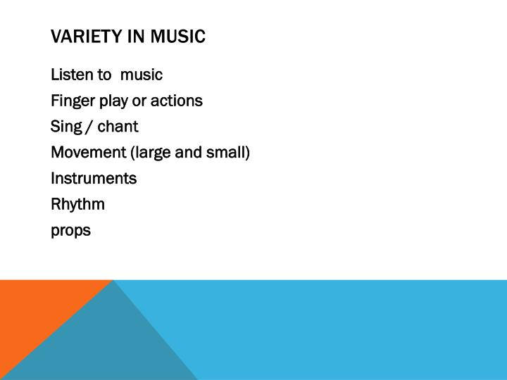 Variety in music