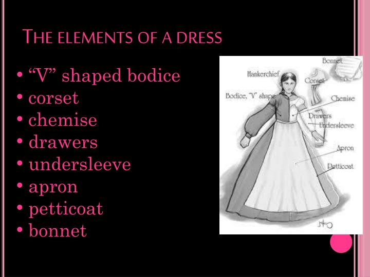 The elements of a dress