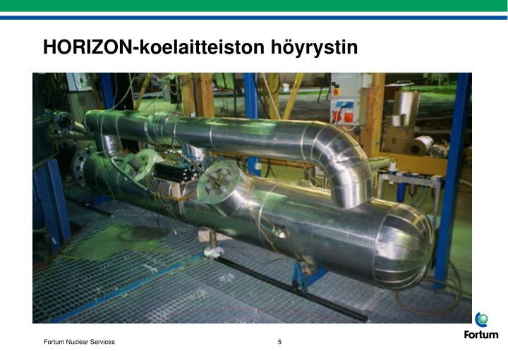 HORIZON-koelaitteiston höyrystin