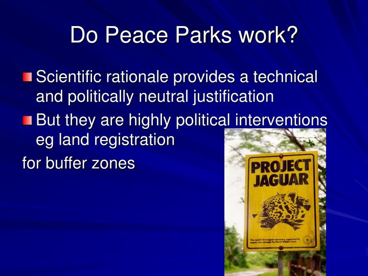 Do Peace Parks work?