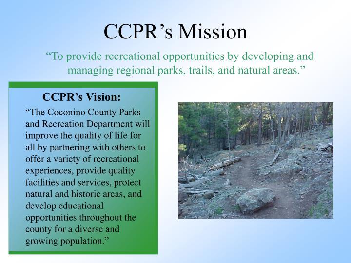 CCPR's Mission