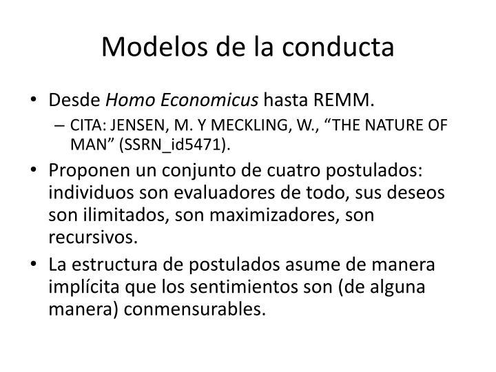Modelos de la conducta