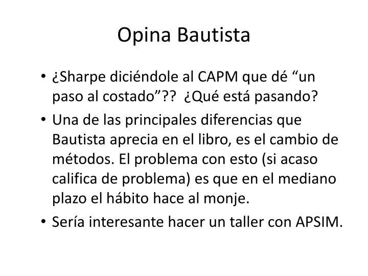 Opina Bautista