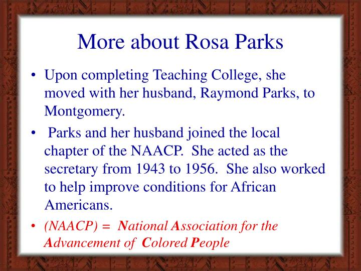 More about Rosa Parks