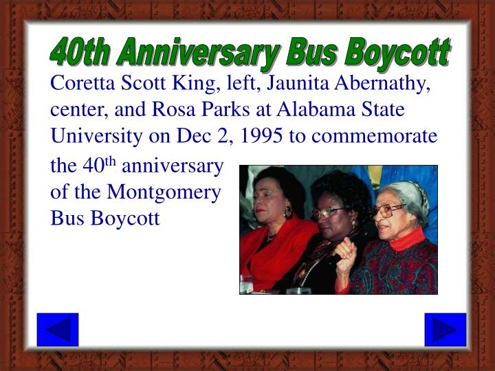 40th Anniversary Bus Boycott