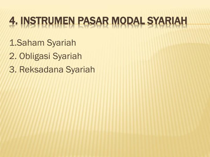 1.Saham Syariah