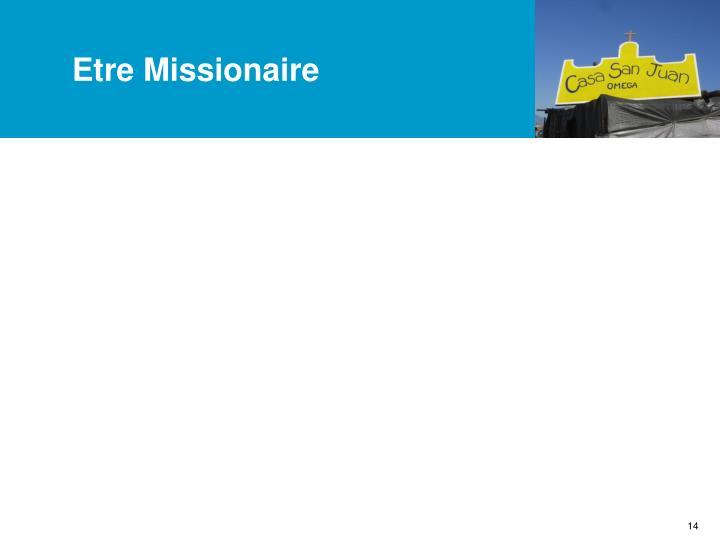 Etre Missionaire
