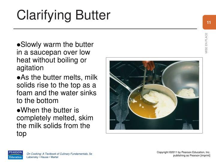 Clarifying Butter
