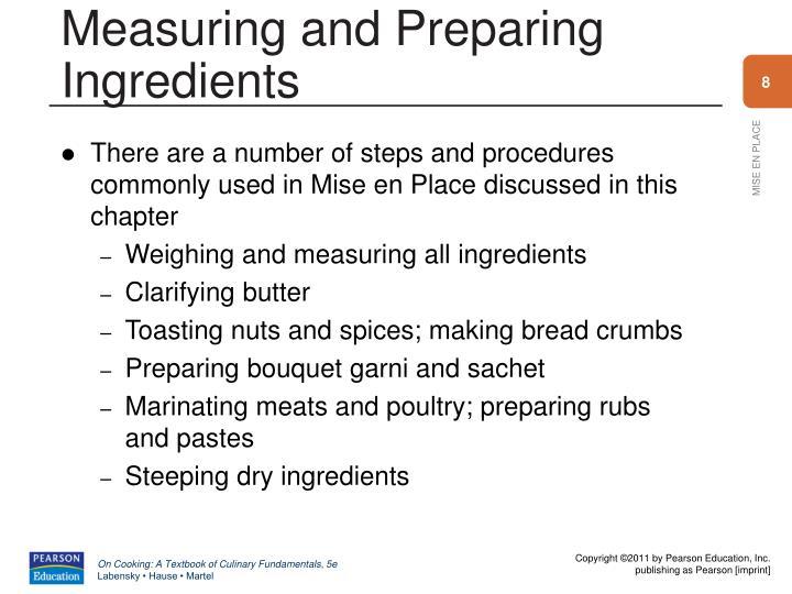 Measuring and Preparing Ingredients