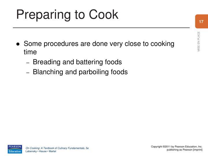 Preparing to Cook