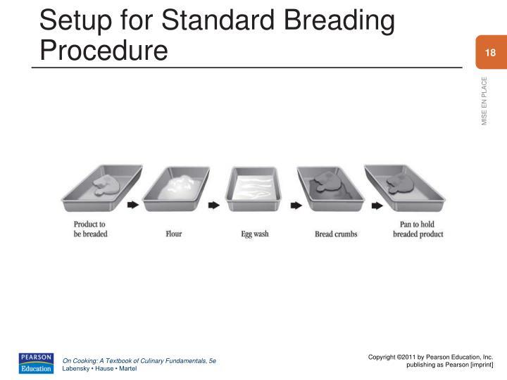 Setup for Standard Breading Procedure