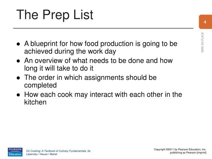 The Prep List