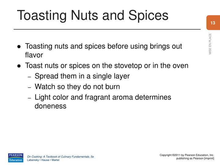 Toasting Nuts and Spices