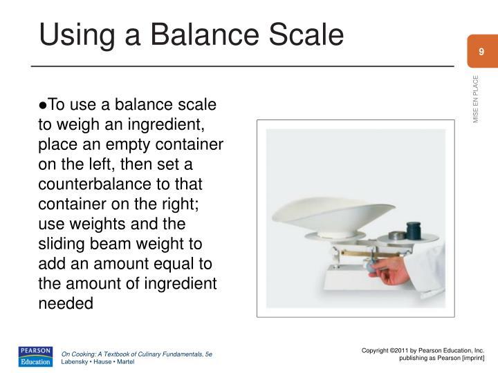 Using a Balance Scale
