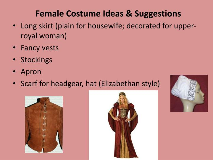 Female costume ideas suggestions