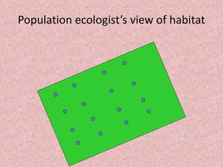Population ecologist's view of habitat