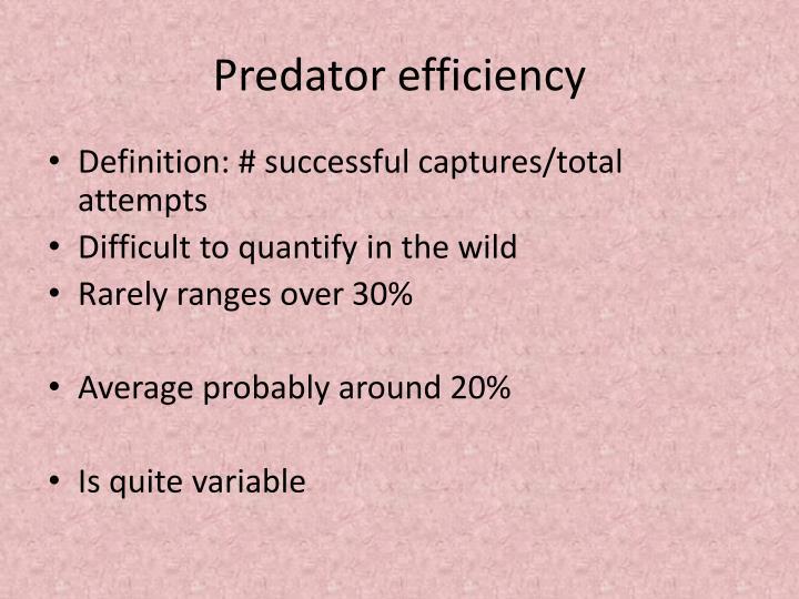 Predator efficiency
