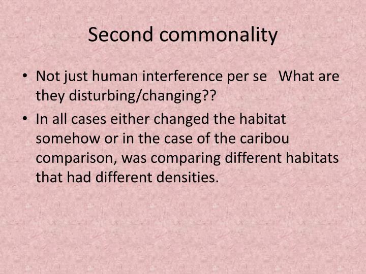 Second commonality