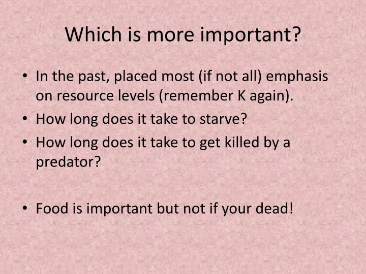 Which is more important?