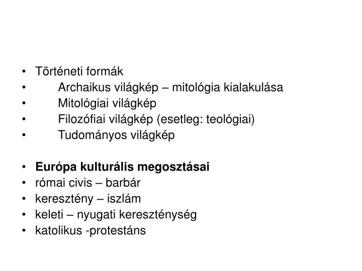 Történeti formák