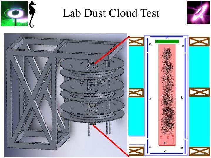 Lab Dust Cloud Test