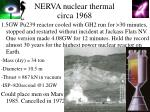 nerva nuclear thermal circa 1968