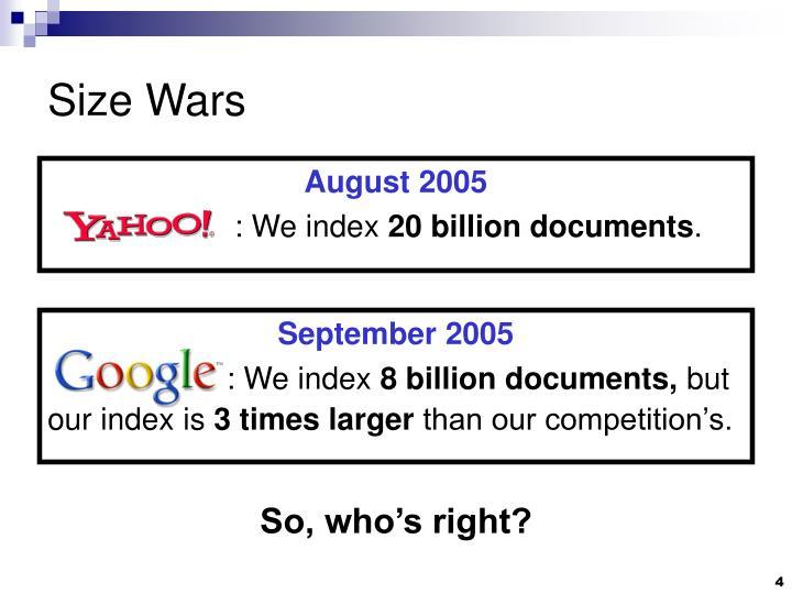 Size Wars