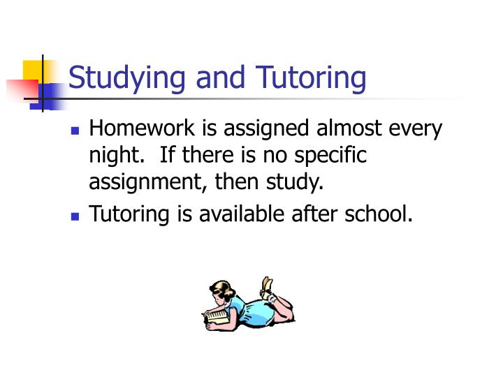 Studying and Tutoring