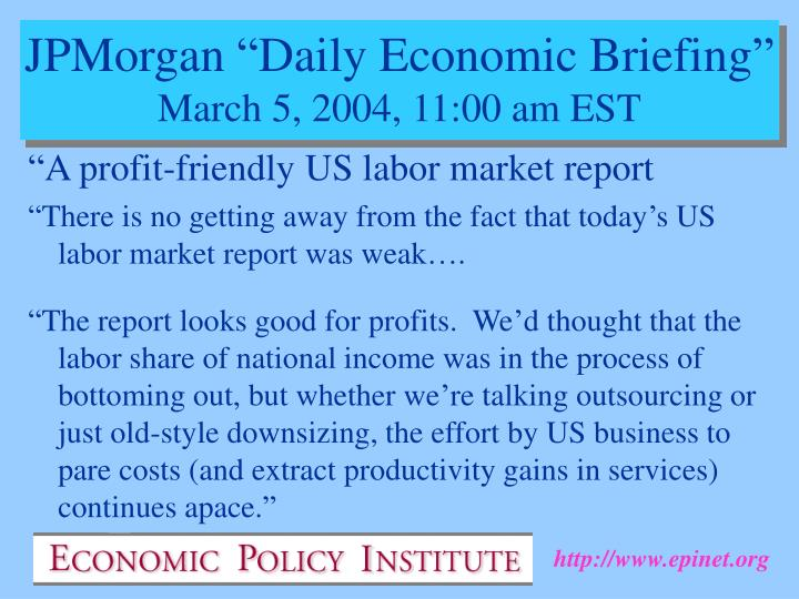 """A profit-friendly US labor market report"