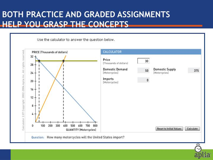 BOTH PRACTICE AND GRADED ASSIGNMENTS HELP YOU GRASP THE CONCEPTS