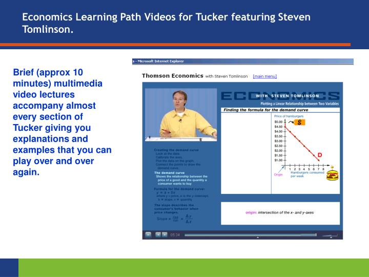 Economics Learning Path Videos for Tucker featuring Steven Tomlinson.