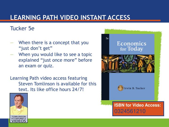 LEARNING PATH VIDEO INSTANT ACCESS