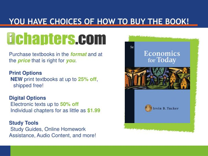 YOU HAVE CHOICES OF HOW TO BUY THE BOOK!