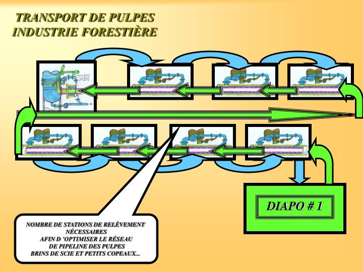 TRANSPORT DE PULPES